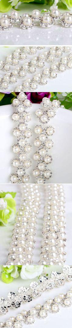 #Chain Rhinestone Claw #Trim wedding dresses,1yard  #general supplie…