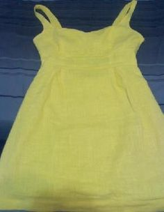 Urban Outfitters Cooperative NWOT Ladder back Buttercup yellow linen summer dress Sz 12 $20.00