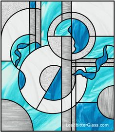 Abstract Stained Glass Design near Rugby Modern Stained Glass, Stained Glass Quilt, Stained Glass Designs, Stained Glass Panels, Stained Glass Projects, Stained Glass Patterns, Mosaic Art, Mosaic Glass, Glass Vase