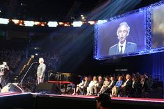 Andrea Bocelli performs at Lions Clubs International 96th convention in Hamburg Germany.