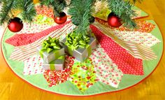 Nancy Zieman's Webcast NOvember 22, 2014 how to sew a Christmas tree skirt