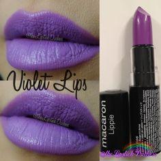 Violet Lips Nyx Macaron, Macarons, Purple Lipstick, Nyx Cosmetics, Lip Makeup, Swatch, Lavender, Wax, Beauty Corner
