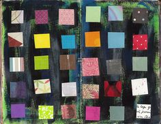 scrap grid by spookypaperdoll, via Flickr