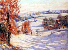 Neige à Crozant - Armand Guillaumin