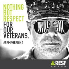 Let's come together and remember all those who served. We thank you for your courage and for always putting your country first. #veteransday www.resf.com
