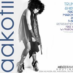 Melodrama Boutique will be hosting several trunk shows this year with innovative designers! We welcome @aakofii to Houston on Friday, March 18, from 5-8p! Her collection of one of kind accessories, handbags, belts, and whatever her creative spirit allows her create especially for the event. Be sure to share and repost and invite friends, family, and co-workers. Lite bites and wine will be served for your shopping pleasure. Atlanta meets Houston again with great talent and artistry product…