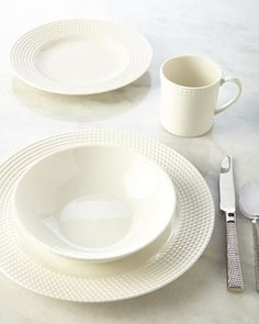 Four-Piece Wickford Dinnerware Place Setting by kate spade new york at Neiman Marcus.