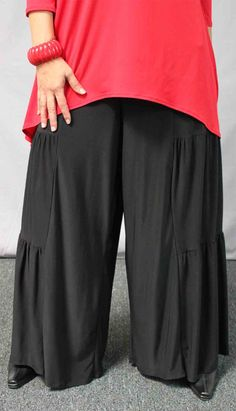 New Artistic Plus Size LagenLook Tiered Wide by Dare2bStylish, $39.00