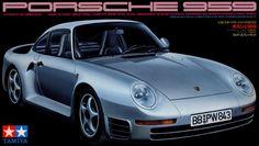 ポルシェ PORSCHE 959PORSCHE959 タミヤのプラモデル/ボックスアート(箱絵) ポルシェ PORSCHE 959.  911のスタイルをベースしているが中身は完全に別物。  排気量2864cc.ターボチャージャーを2基搭載。フルタイム4WD.6速のギヤボックス。