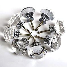 $12.99 Floureon 8PCS Diameter 40mm Clear Crystal Glass Cabinet K... https://smile.amazon.com/dp/B00FFXD3FQ/ref=cm_sw_r_pi_dp_Fd-Exb0BS6DK1
