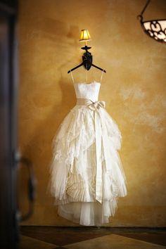 beach lace strapless short tea length wedding dress by lucksell, $399.00