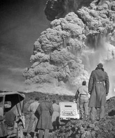 The last major eruption of Vesuvius happened during World War II, as seen in this photograph by the great British photographer and Magnum founder member, George Rodger
