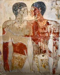 The Embrace of Khnumhotep and Niankhkhnum. Fifth Dynasty 2400. BCE. Egypt.