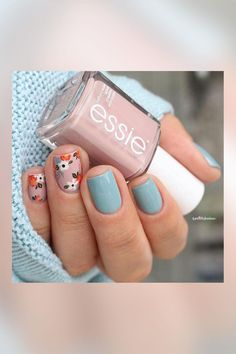 Decorated nails: manicure this is going to wear in spring Girls Nail Designs, Fall Nail Art Designs, Acrylic Nail Designs, Nail Swag, Cute Nails, Pretty Nails, Oval Acrylic Nails, Pastel Nail Art, Gel Nagel Design