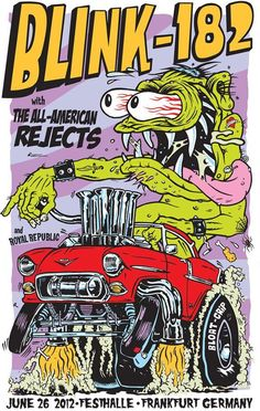 Lazy Labrador Records - Blink 182 All American Rejects · 2012 Frankfurt Silkscreen Poster, $149.99 (http://lazylabradorrecords.com/blink-182-all-american-rejects-2012-frankfurt-silkscreen-poster/)