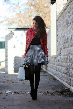 Los outfits más trendy con faldas pata de gallo 4 2fedd67db0b