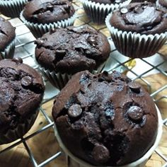 """Moist Chocolate Muffins   """"One word: scrumptious! Very moist, tasty and full of chocolate goodness! Even better the next day."""""""