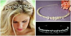 Bridal hairbands and headbands- rhinestones, pearls, vines and more