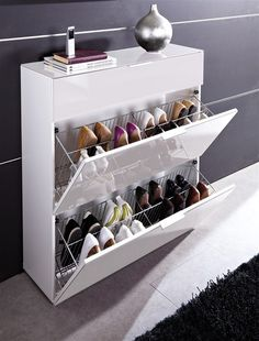 15 Smart Storage Rack Design Ideas For Your Small Home Do you have a small house that doesn't have storage space for your object? Because the storage space in our small house must be less … Shoe Storage Modern, Shoe Storage Design, Shoe Cabinet Design, Shoe Storage Solutions, Closet Shoe Storage, Diy Shoe Rack, Shoe Storage Cabinet, Rack Design, Smart Storage