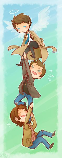 Castiel, Dean And Sam going for a ride....