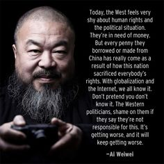 Ai Weiwei on human rights.