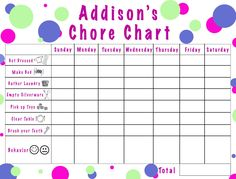 New chore chart for the little guy...good idea.