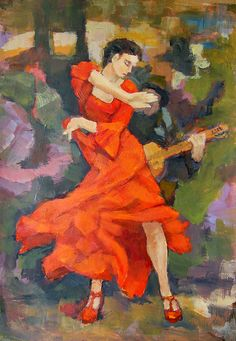 Dance Painting Carmen by Alfons Niex Dance, Wall Art, Painting, Projects, Dancing, Painting Art, Paintings, Painted Canvas, Drawings