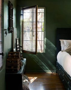 Looking for a quick interior design room refresh or overhaul? To get you inspired we're looking at the best bedroom colors for 2019 and beyond. Green Apartment, Bedroom Apartment, Bedroom Wall, Master Bedroom, Bedroom Decor, Apartment Therapy, Bedroom Retreat, Bedroom Ideas, Budget Bedroom