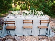 Dusty Blue Wedding Table | photography by http://www.krystleakin.com/