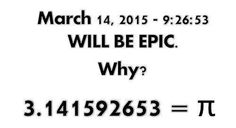 The anticipation of Pi day 2015