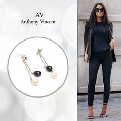 The best accesories are in Anthony Vincent. #Pearls #earrings #AV