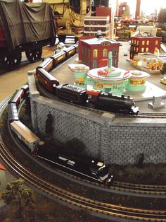 Detail of the M.T.H. O Scale Layout at the @B Railroad Museum for the 2012 Holiday Festival of Trains & Toys