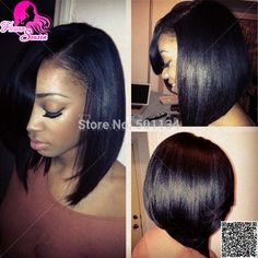 clip in hair extensions bob for black women - Google Search
