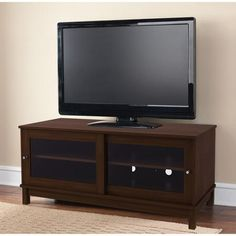 "Mainstays TV Stand for TVs up to 55"", Multiple Finishes - Walmart.com $119"