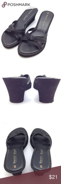 """WHBM wedge sandals EUC! The straps are a little stretchy. 3"""" wedge and 1"""" platform White House Black Market Shoes Wedges"""