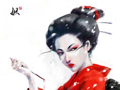Photoshop 4 hrs The Geisha are traditional, female Japanese entertainers whose skills include performing various Japanese arts such as classical music a. The Geisha Geisha Art, Classical Music, The Life, Asian Art, Japanese Art, Fantasy Art, Snow White, Disney Characters, Fictional Characters