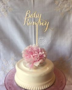 Baby+Shower+Cake+Topper.+Baby++baby's+name.+by+TheVirginiaArtisans