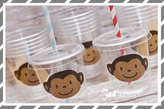 Mod Monkey Birthday Party-Monkey Party Favor by PartyCupMedley