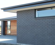Midland Brick New Zealand. Supply and manufacture clay bricks and pavers. With distributors based New Zealand wide. Painted Brick Ranch, Painted Brick Exteriors, Stained Brick Exterior, Grey Brick Houses, Modern Brick House, House Paint Exterior, Exterior House Colors, Exterior Wall Cladding, House Cladding