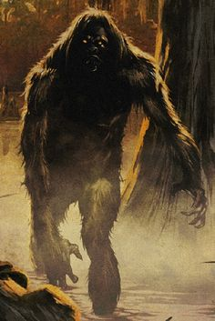 "librum-prodigiosum: "" The Fouke Monster is a cryptid said to dwell in the Boggy Creek area of Miller County, Arkansas. Said to stand at ten feet tall, and weigh at least eight hundred pounds, it is described as an ape-like creature covered in dark fur. Yeti Bigfoot, Bigfoot Sasquatch, Bigfoot Toys, Bigfoot Pictures, Pie Grande, Strange Beasts, Loch Ness Monster, Supernatural Beings, Mothman"