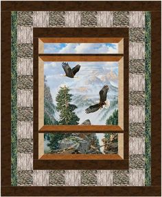 Eagle Pass - paneled quilt by Northcott
