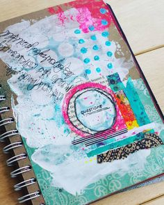 Art journal page in my junk journal!   #mixedmedia #artjournaling #artjournal #collage #junquejournal #junkjournal #questions