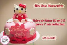 Sweet Cucas and Cupcakes by Rosângela Rolim: Mini Bolo Mesversário - Hello Kit