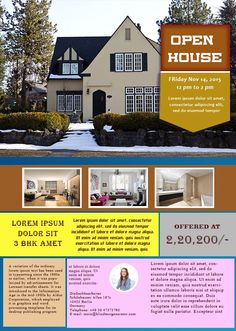 34 best open house flyer ideas images on pinterest flyer free