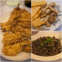 allinguate (just without thorns, floured and fried), with and little fried fishes with Just a simple :D To taste them at have a look at bebtrapanilveliero. Sicilian Recipes, Sicilian Food, Trapani Sicily, Fried Fish, Fries, Pasta, Lunch, Ink, Chicken