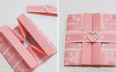 origami box. envelope/cartão