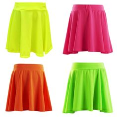 2f58529e49 Details about Girls Kids Skirts Skater Skirt School Party Age 7 8 9 10 11  12 13