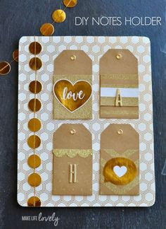 DIY Notes Holder! Such a cute idea for leaving little notes for your family every day!