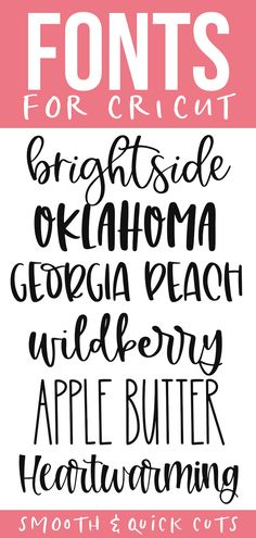 Cute cricut fonts for smooth and quick cuts! These fonts are perfect for all of your svg designs, shirts, signs and more! Cute cricut fonts for smooth and quick cuts! These fonts are perfect for all of your svg designs, shirts, signs and more! Cricut Craft Room, Cricut Vinyl, Free Fonts For Cricut, Fancy Fonts, Cool Fonts, Vinyl Projects, Circuit Projects, Craft Projects, Craft Ideas