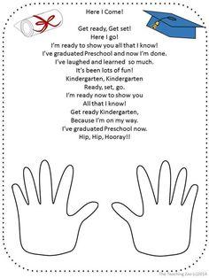 FREE Graduation Poem for Pre-K and Kindergarten by The Teaching Zoo by sonja Preschool Graduation Poems, Preschool Poems, Preschool Classroom, Preschool Goodbye Song, Zoo Crafts Preschool, Preschool Memory Book, Kids Poems, Kindergarten Freebies, Pre Kindergarten